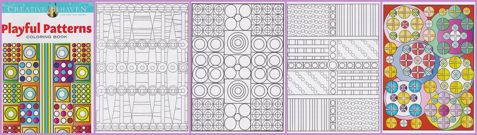 CH 100 playful patterns, kleurboek geometrische patronen
