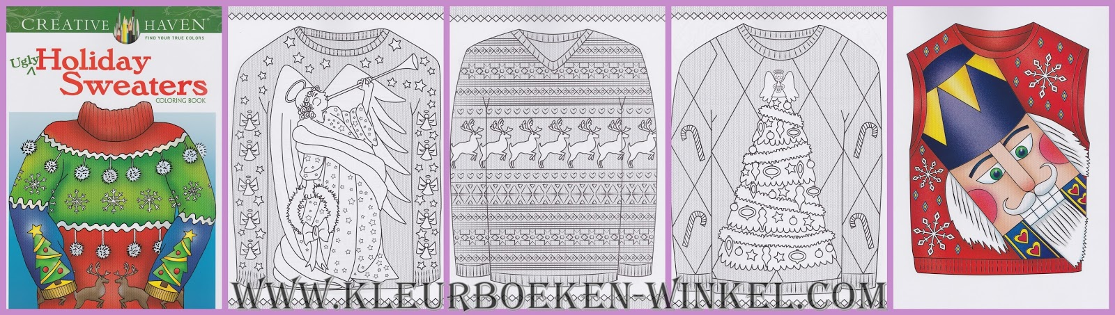 CH 106 holiday sweaters, kleurboek Creative Haven, kerst en winter