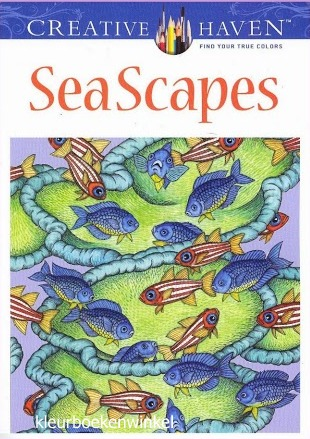 CH 21 sea scapes, kleurboek ter land, ter zee en in de lucht