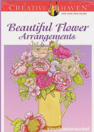 CH 27 beautiful flower, kleurboek bloemig