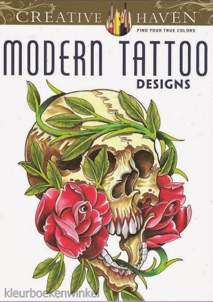 CH 31 modern tattoo, kleurboek tattoos