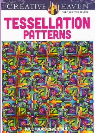 CH 32 tessellation patterns, kleurboek geometrische patronen