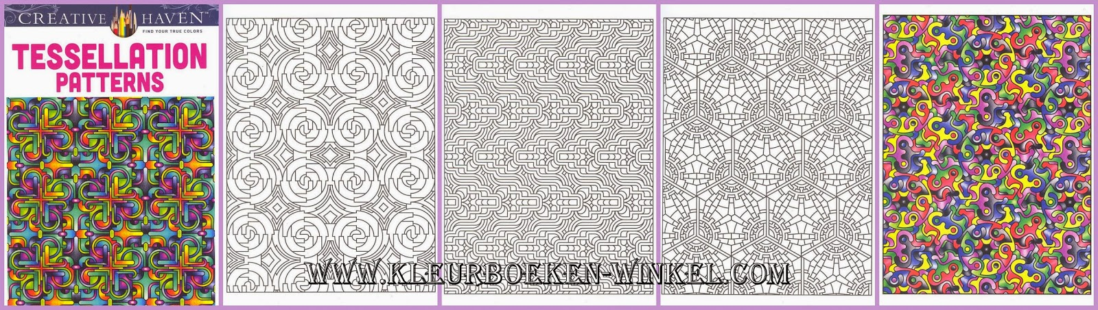 tessellation patterns, kleurboek geometrische patronen