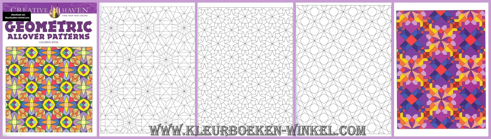 CH 35 geometric allover patterns, kleurboek geometrische patronen