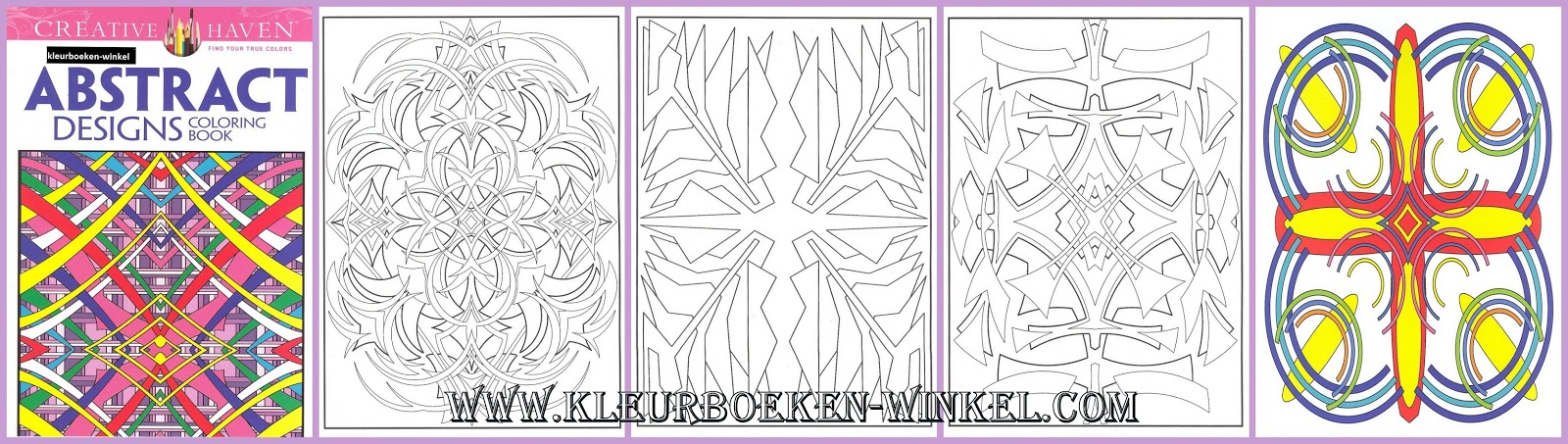 CH 53 abstract designs, kleurboek geometrische patronen
