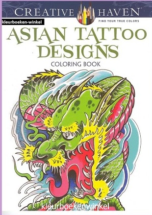 CH 59 asian tattoo designs, kleurboek tattoos