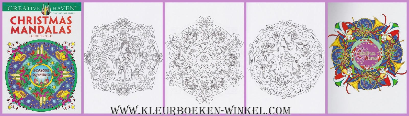 CH 63 christmas mandalas, kleurboek Creative Haven, kerst en winter