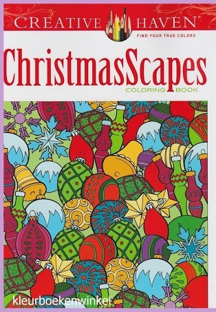 CH 64 christmas scapes, kleurboek Creative Haven, kerst en winter
