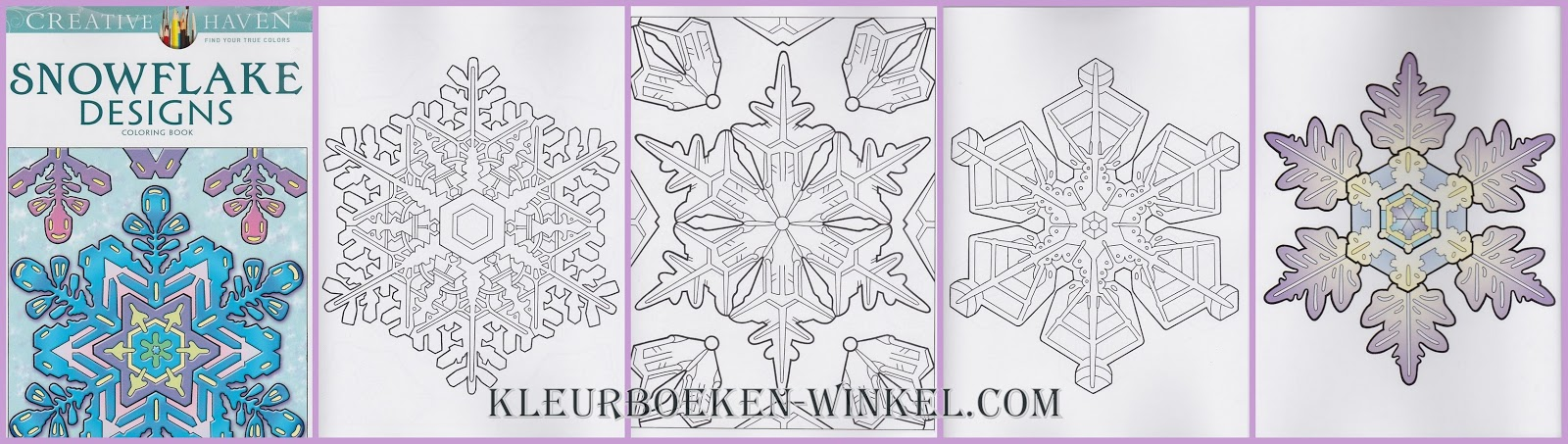CH 65 snowflake designs, kleurboek Creative Haven, kerst en winter