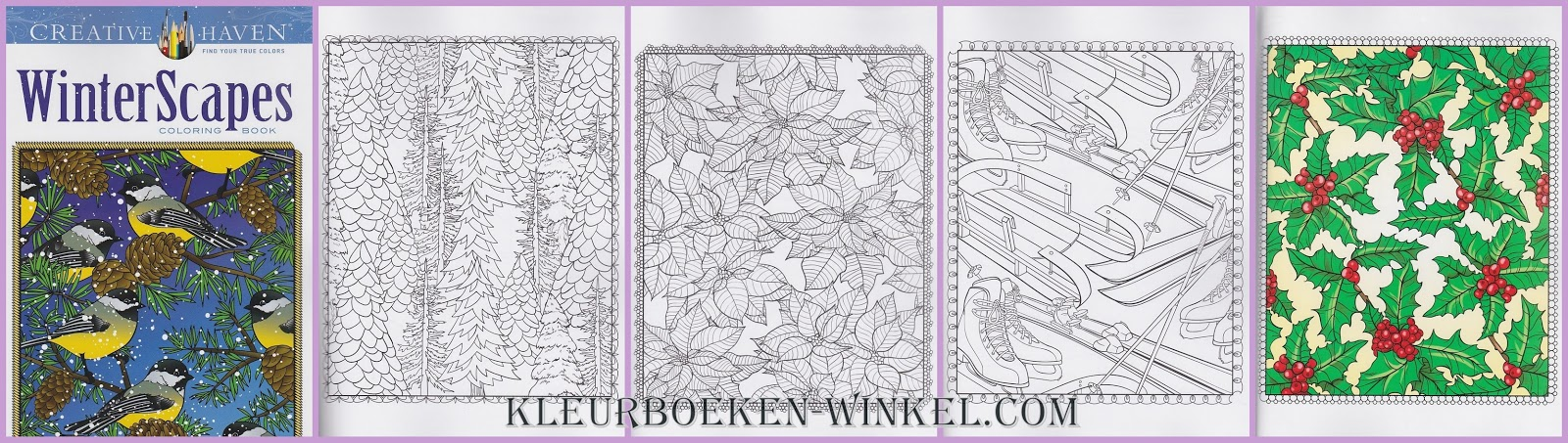 CH 67 winter scapes, kleurboek Creative Haven, kerst en winter