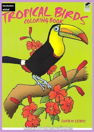 DZ 64 tropical birds, kleurboek vogels