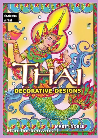 DZ 49 thai decorative designs, kleurboek culturen