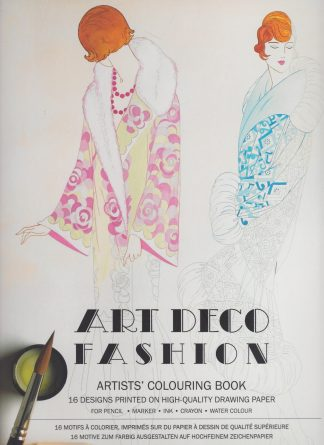 AK 04 art deco fashion, aquarel kleurboek pepin