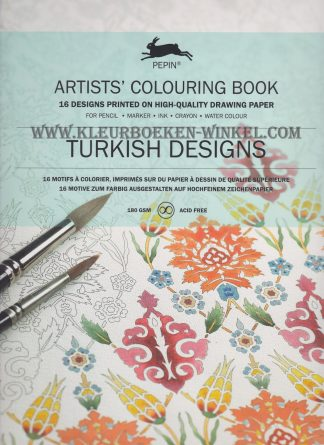 AK 08 turkish designs, aquarel kleurboek pepin