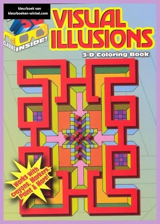 DDX 12 visual illusions, 3-D kleurboeken extra.