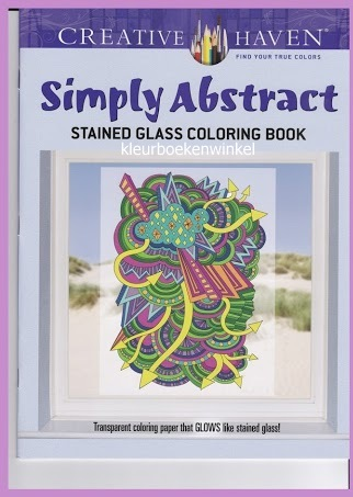 GL 04 simply abstract, glas en lood kleurboek