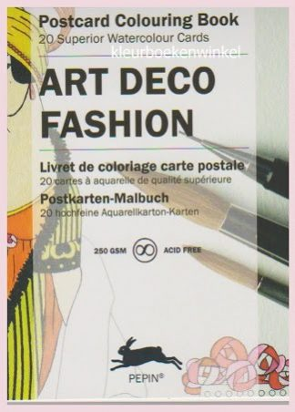 PK 07 art deco fashion, postkaarten
