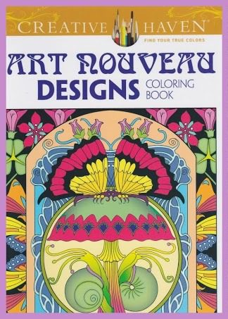 CC 06 art nouveau designs. Kleurboeken Creative Haven Collection