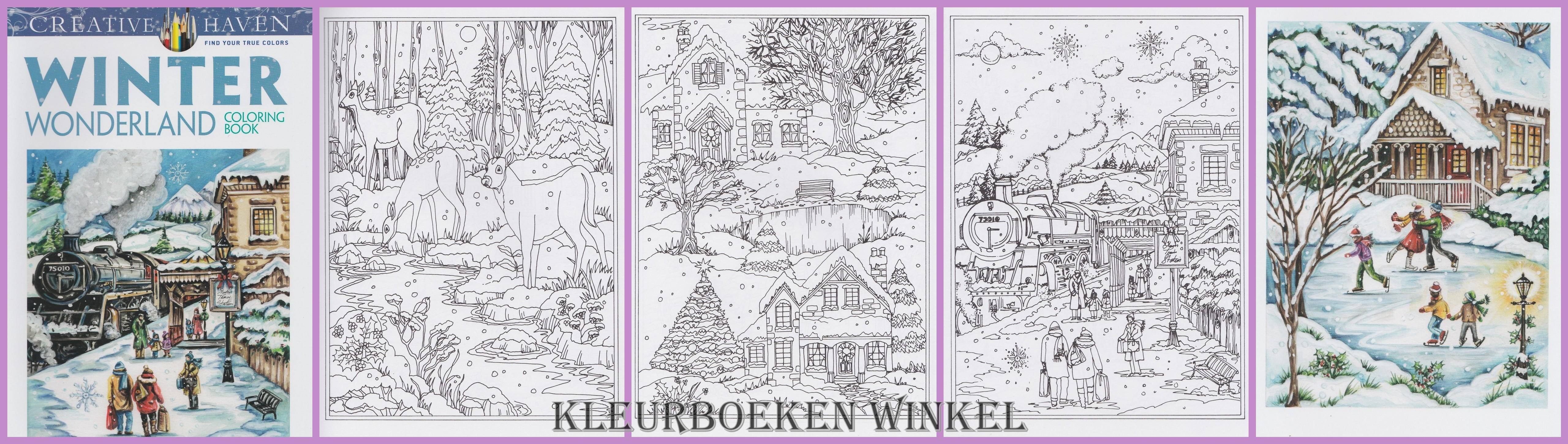 CH142 winter wonderland. kleurboek kerst en winter