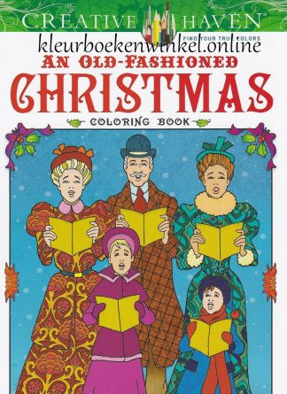 old fashioned christmas kleurboek kerst en winter