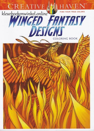 kleurboek winged fantasy designs