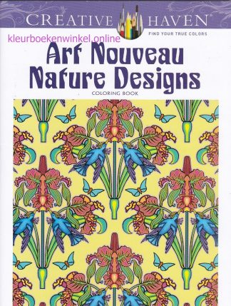 CH 208 kleurboek art nouveau nature designs